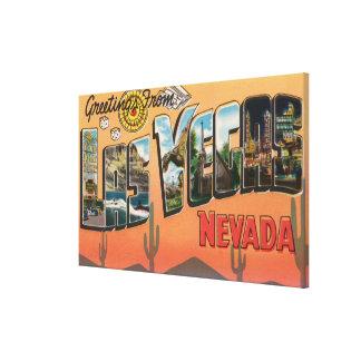 Las Vegas, Nevada - Large Letter Scenes Canvas Print