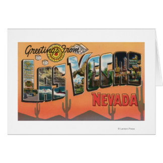 Las Vegas, Nevada - Large Letter Scenes Cards