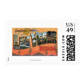 Las Vegas, Nevada - Large Letter Scenes Stamps