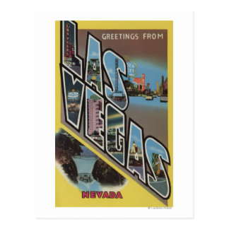 Las Vegas, Nevada - Large Letter Scenes Post Cards