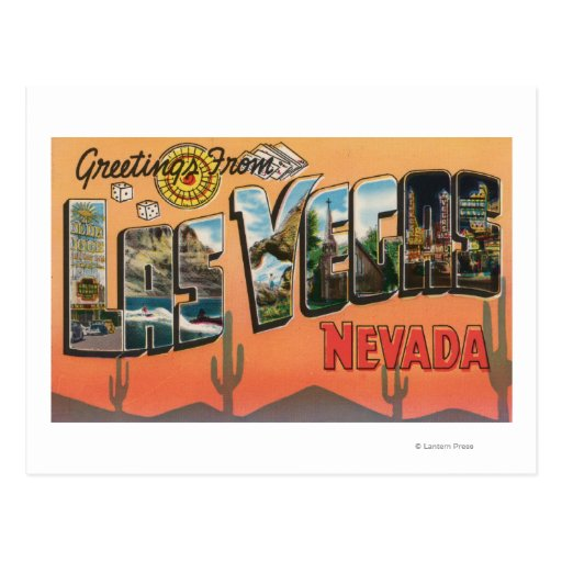 Las vegas nevada large letter scenes postcard zazzle for Arts and crafts stores in las vegas