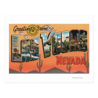 Las Vegas, Nevada - Large Letter Scenes Postcards