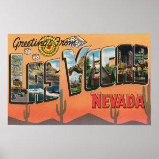 Las Vegas, Nevada - Large Letter Scenes Print