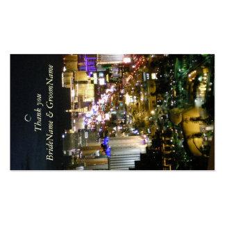 Las Vegas Nevada le agradece etiqueta del regalo Tarjetas De Visita
