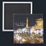 "Las Vegas Nevada Nighttime Souvenir Fridge Magnets<br><div class=""desc"">Fridge magnet pictures a stunning nighttime street scene in Las Vegas.</div>"