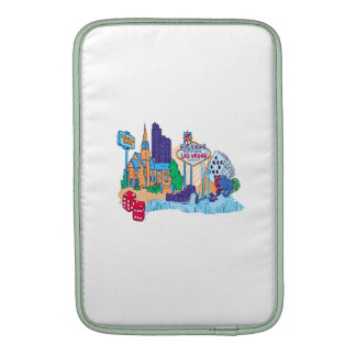 las vegas nevada no txt city graphic.png sleeve for MacBook air
