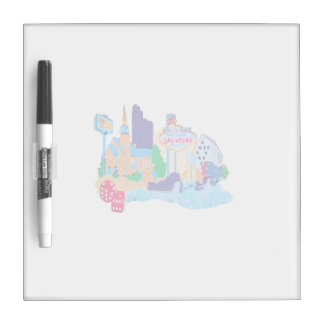 las vegas nevada no txt watercolor city graphic co dry erase whiteboards