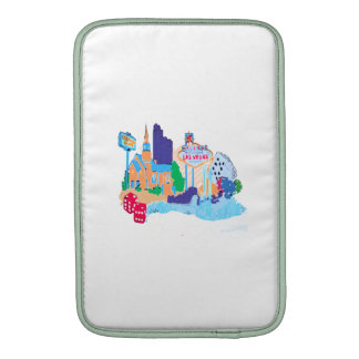 las vegas nevada no txt watercolor city graphic.pn MacBook air sleeve