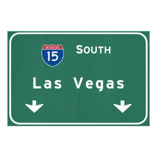 Las Vegas Nevada nv Interstate Highway Freeway : Photo Print