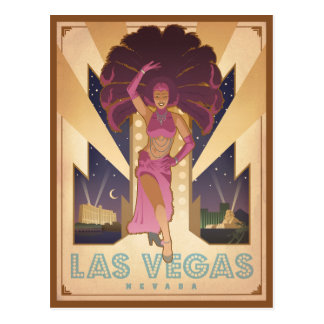 Las Vegas, Nevada | Showgirl Postcard