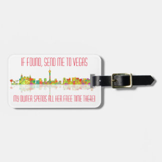 LAS VEGAS, NEVADA SKYLINE - Bag tag