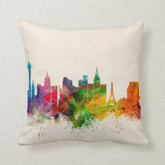 Las Vegas Nevada Skyline Pillow