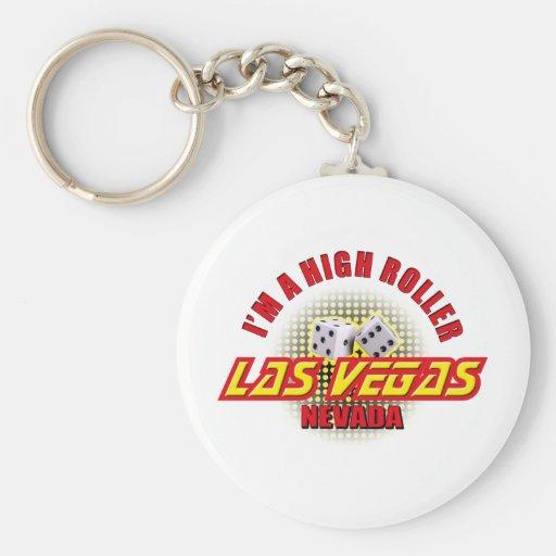 Las Vegas, Nevada - soy gran apostador #2 Llavero Redondo Tipo Pin