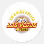 Las Vegas, Nevada - soy gran apostador Etiquetas Redondas