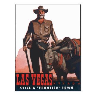 "Las Vegas Nevada Still A ""Frontier"" Town, Vintage Postcard"