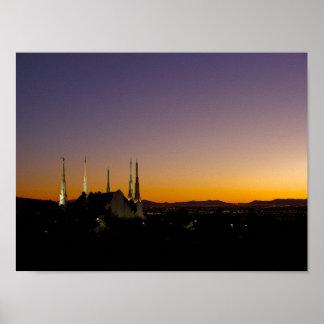 Las Vegas Nevada Temple Poster