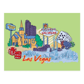 Las Vegas, Nevada US Famous City Postcard
