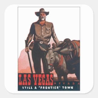 Las Vegas Nevada Vintage Square Sticker