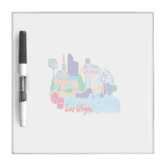 las vegas nevada watercolor city graphic.png Dry-Erase whiteboards
