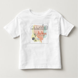 Las Vegas, Nevada   Watercolor Sketch Image Toddler T-shirt