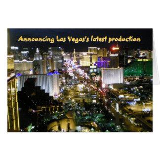 Las Vegas  New Baby Announcement Card