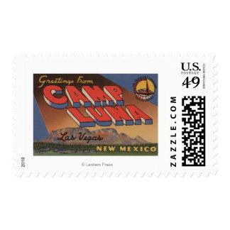 Las Vegas, New México - campo Luna Timbres Postales