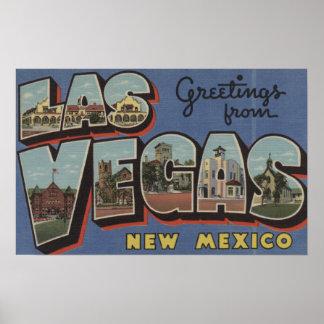 Las Vegas, New México - escenas grandes 2 de la le Póster