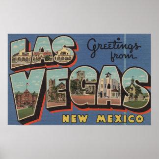 Las Vegas, New México - escenas grandes de la letr Póster