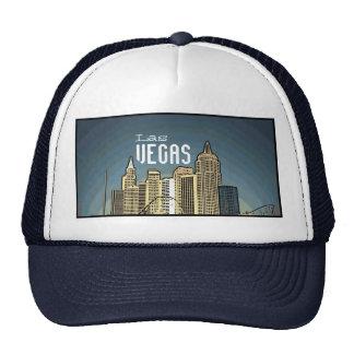 Las Vegas New York hotel view artsy blue hat