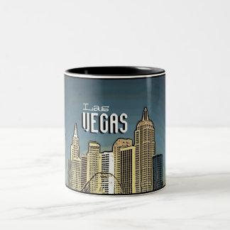Las Vegas New York hotel view artsy coffee mug