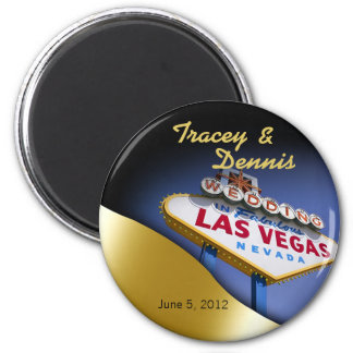 Las Vegas Newlyweds Casino Magnet Favor