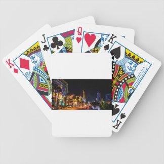 Las Vegas Night Lights Strip Eiffel Tower Casino Bicycle Playing Cards
