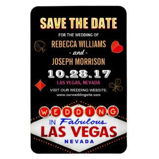 Las Vegas Night Neon Sign - Save the Date Wedding Rectangular Photo Magnet