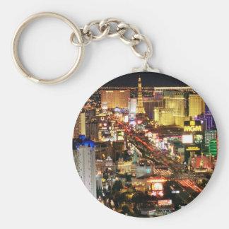 Las Vegas Night Skyline Keychain