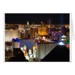 Las Vegas night time Greeting Cards