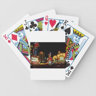 Las Vegas Night Time Neon Lights Casinos Sign Bicycle Playing Cards