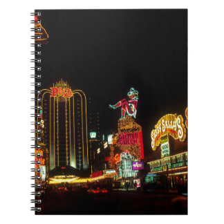 Las Vegas Night Time Neon Lights Casinos Sign Notebook