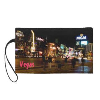 Las Vegas Nights Photo Bagettes Wristlet Bag
