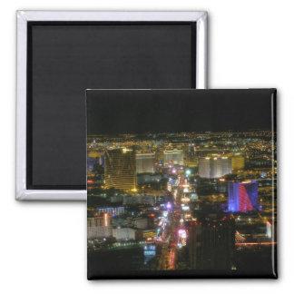 Las Vegas North Strip Aerial View Magnet