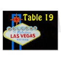 Las Vegas Numbered Table Seating tent cards card