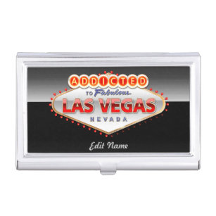 Welcome business card holders cases zazzle las vegas nv funny welcome sign business card case reheart