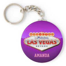 Las Vegas, NV Funny Welcome Sign Keychain