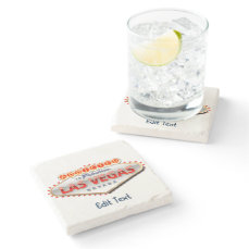 Las Vegas, NV Funny Welcome Sign Stone Coaster