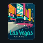 """Las Vegas, NV Magnet<br><div class=""""desc"""">Anderson Design Group is an award-winning illustration and design firm in Nashville,  Tennessee. Founder Joel Anderson directs a team of talented artists to create original poster art that looks like classic vintage advertising prints from the 1920s to the 1960s.</div>"""