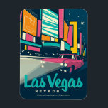 "Las Vegas, NV Magnet<br><div class=""desc"">Anderson Design Group is an award-winning illustration and design firm in Nashville,  Tennessee. Founder Joel Anderson directs a team of talented artists to create original poster art that looks like classic vintage advertising prints from the 1920s to the 1960s.</div>"