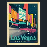 "Las Vegas, NV Postcard<br><div class=""desc"">Anderson Design Group is an award-winning illustration and design firm in Nashville,  Tennessee. Founder Joel Anderson directs a team of talented artists to create original poster art that looks like classic vintage advertising prints from the 1920s to the 1960s.</div>"