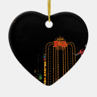 Las Vegas old Fremont Street Ceramic Ornament