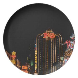 Las Vegas old Fremont Street Dinner Plate