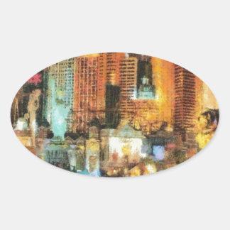 Las vegas oval sticker