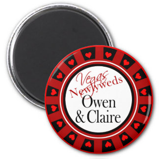 Las Vegas Owen & Claire Casino Chip Magnet Favor